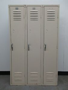 Used Metal Single tier Lockers 36 w X 15 d X 60 h