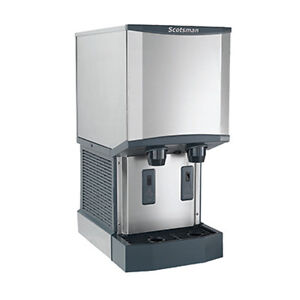 Scotsman Hid540w 1 500 Lb Production W 40 Lb Storage Ice And Water Dispenser