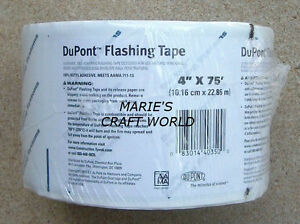2 4 X 75 Rolls Dupont Flashing Tape Door Windows Seal Tyvek Insulation Wrap