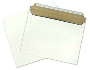250 Rigid Shipping Envelopes Document Mailer Self Seal Cardboard 9 5 X 12 5