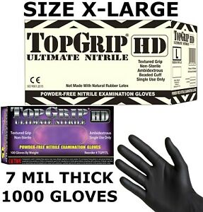 Topgrip Heavy Duty Nitrile Gloves Powder Free 7 5 Mil Full Case Xl X large