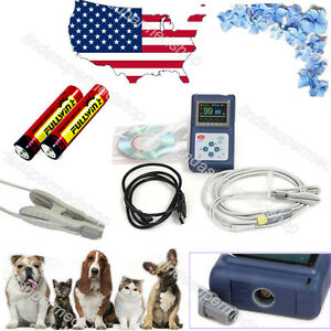 Us Veterinary Contec Cms60d hand held pulse oximeter with Vet Tongue Probe Fda