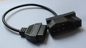 7 Pin Obd1 Adapter To Obd 2 To 16 Pin For Ford Diagnostic Tool Fault Code Reader