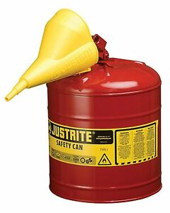 Safety Can Safety Gas Can Galvanized Steel Safety Can With Flame Arrester Funnel
