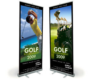33 X 80 Smooth Banner anti Curl For Roll Up Stand Display High Definition
