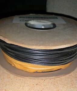 02 New Belden Black Copper Tinned Electric Wire 18 Awg 500 Ft Spool Stranded