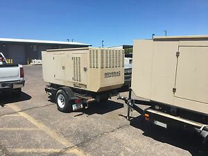 Generac 60kw Standby Nat Gas lpg Generator With Dual Breakers And Switch