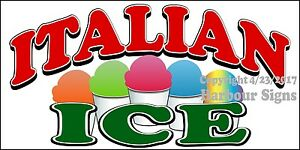 choose Your Size Italian Ice Decal Concession Food Truck Vinyl Sticker