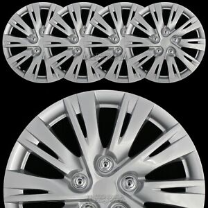 16 Set Of 4 Wheel Covers Full Rim Snap On Hub Caps For R16 Tire