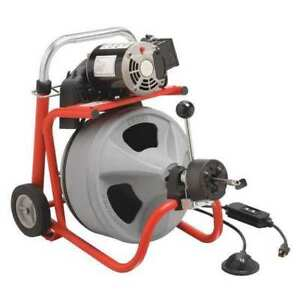 Drain Cleaning Machine 165 Rpm 75 Ft Ridgid 27008