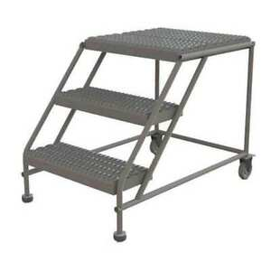 Mobile Work Platform 3 Step Steel 30 Tri arc Wlwp032424
