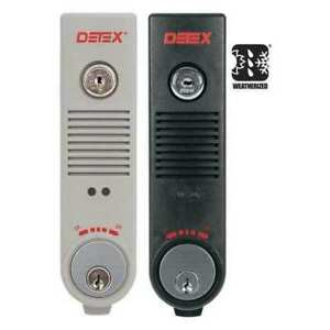 Exit Door Alarm 9v Battery 100db Detex Eax 500w Gray W cyl