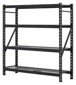 Storage Rack Unit steel black 77in W Edsal Er7824w4
