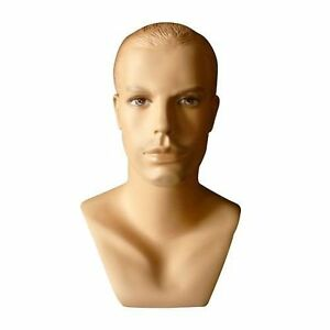 Realistic Male Mannequin Head Made Of Fiberglass h41