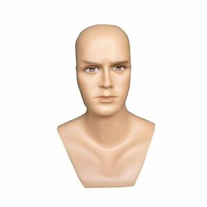 Realistic Male Mannequin Head Made Of Fiberglass h9