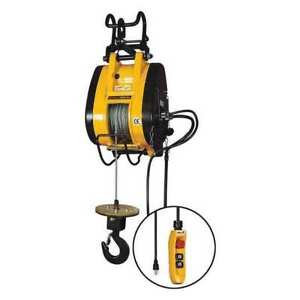 Oz Lifting Products Obh1000ng Electric Wire Rope Hoist 1000 Lb 115v G3720328