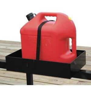 Rack Gas Can For Use With Open And Enclosed Trailers Includes Secure Strap