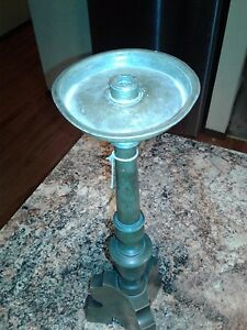 Late 1600 S Early 1700 S Pewter Candle Stick From Germany Astria