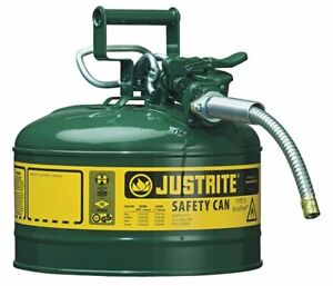 Type Ii Safety Can green 12 In H Justrite 7225420