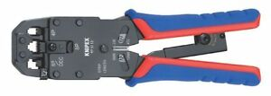 Knipex 8 Crimping Pliers For Western Plugs Plastic Grip 97 51 12