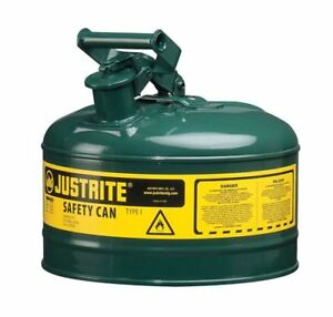 Type I Safety Can 2 5 Gal green 11 5in H Justrite 7125400
