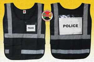 Safety Vest black nylon Dms Dms 05838