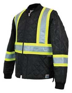 Quilted Safety Jacket l black Work King S43211