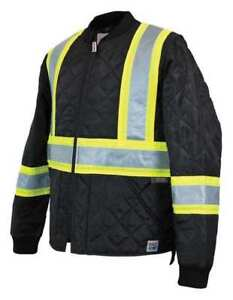 Quilted Safety Jacket xl black Work King S43211