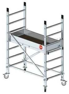 Portable Scaffold 396 Lb Aluminum Hailo 9900 101