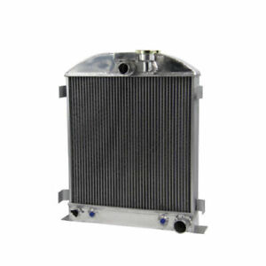 3 Row Core Aluminum Radiator For 1932 Ford Chopped Chevy Engine Grill Shells