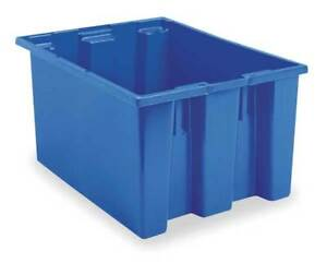 Akro mils 35230blue 2 67 Cu Ft Blue Poly Nest Stack Tote