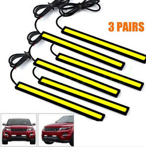 6x Super Bright White Car Cob Led Lights Drl Fog Driving Lamp Dc 12v High Power