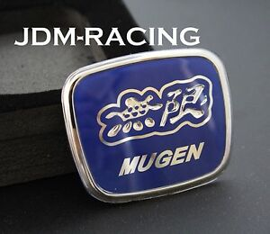 For Honda Mugen Steering Wheel Blue Jdm Emblem Civic Accord Hr V Fa5 Fd2 Fg1