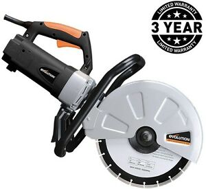 15 Amp Portable Concrete Cut Off Saw Corded Power Tool 12 Blade Electric Cutoff