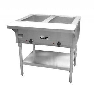 Commercial Kitchen 2 Bay Electric Steam Table 33