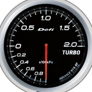 Defi Advance Gauge Bf 60 Turbo 200kpa White