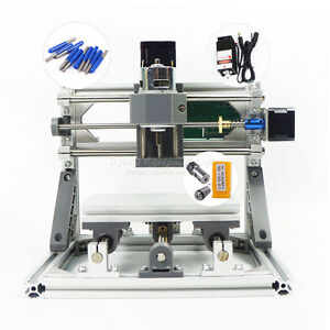 Mini Cnc 1610 Pro Laser Pcb Milling Machine Diy Hobby Wood Router Grbl Control
