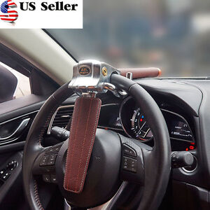 1pc Universal Auto Car Anti theft Security Rotary Steering Wheel Lock Top Mount
