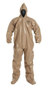 Dupont C3122ttnxl000600 Tychem Cpf3 Chemical Nbc Chem Suit W hood Boots New