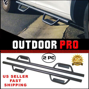 Matte 07 18 Chevy Silverado Gmc Sierra Crew Cab Fit Running Boards Nerf Bar Step