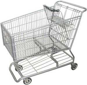 Wire Shopping Cart 42 In L 25 In W