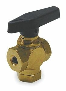 Brass Ball Valve 3 way 1 4 1wmw9