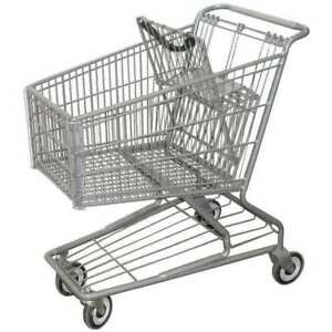 Zoro Select Rwr pre 172w Wire Shopping Cart 32 3 4 In L