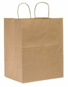 Regal Brown Shopping Bag Flat Bottom Twist Handle Pk200 Zoro Select 12r078