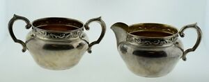 Reed Barton Sterling Silver Sugar Bowl Creamer Scroll X 828