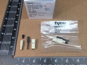 5 Pcs 5504932 1 Tyco amp 125 m Fiber Optic Plug Connector Sc Simplex