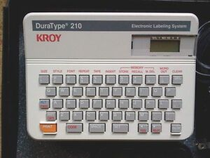 Kroy Duratype 210 Label Maker Electronic Labeling System p touch