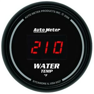 Autometer 6337 Sport comp Digital Water Temperature 0 300 Deg Gauge 2 1 16