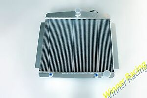 56mm Radiator For Chevy Hot street Rod Car sedan L6 Auto 1949 1954 Up To 700hp