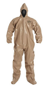 Dupont C3122ttn3x000600 Tychem Cpf3 Chemical Nbc Chem Suit W hood Boots New